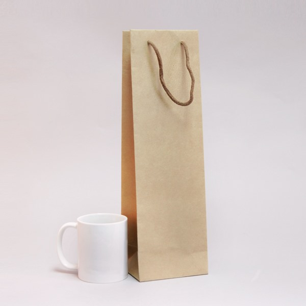 Natural Kraft Wine Bottle Gift Bags 12cm (L) x 39cm (H) x 9cm (P)
